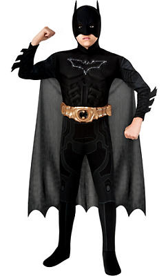 Boys Light-Up Batman Muscle Costume