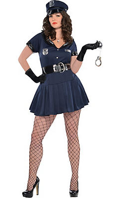 Adult Officer Rita Dem Rights Police Costume Plus Size