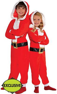 Child Santa One Piece Pajamas