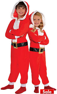 Child Santa One Piece Pajamas