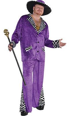 Adult Sugar Daddy Pimp Costume Plus Size