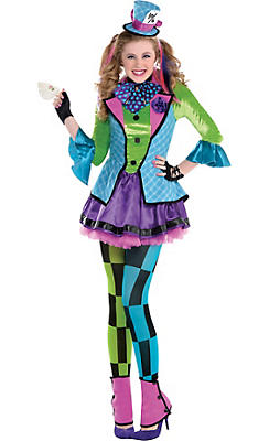 Teen Girls Sassy Mad Hatter Costume