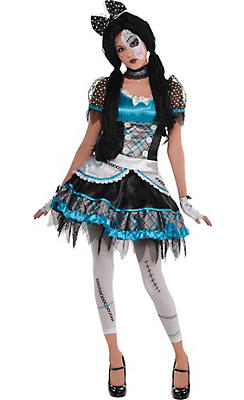 Teen Girls Shattered Doll Costume