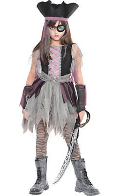 Girls Haunted Pirate Costume