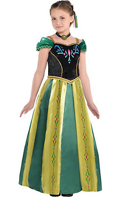Girls Anna Coronation Costume - Frozen