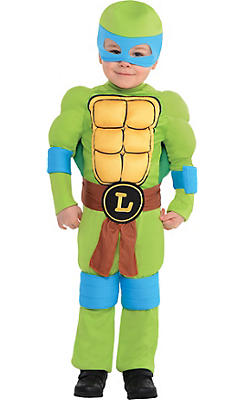 Toddler Boys Leonardo Muscle Costume - Teenage Mutant Ninja Turtles