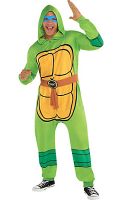 Adult Zipster Teenage Mutant Ninja Turtles One Piece Pajama Costume