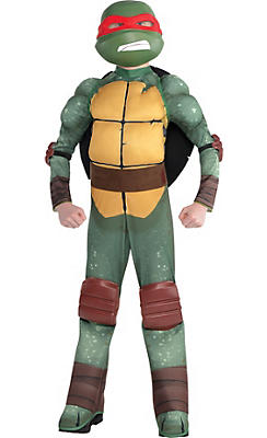 Boys Raphael Muscle Costume - Teenage Mutant Ninja Turtles