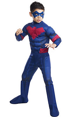 Boys Nightwing Muscle Costume - Batman