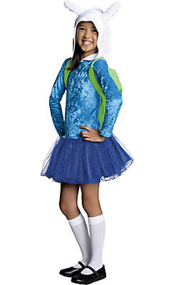 Girls Hooded Fionna Tutu Costume - Adventure Time