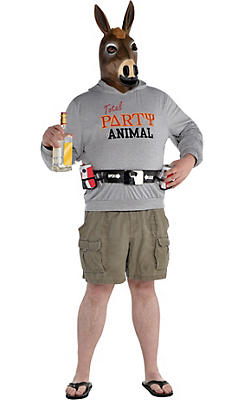 Adult Party Animal Costume Plus Size