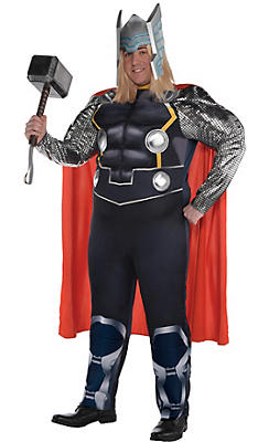 Adult Thor Muscle Costume Plus Size