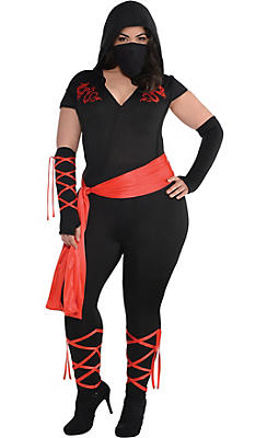 Adult Dragon Fighter Ninja Costume Plus Size