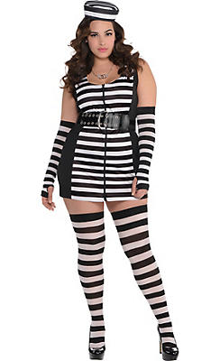 Adult Guilty As Charged Prisoner Costume Plus Size