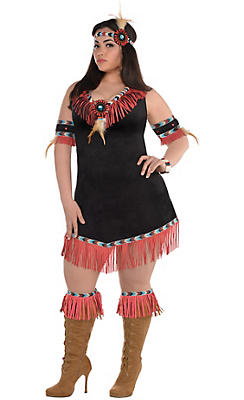 Adult Rising Sun Native American Princess Costume Plus Size