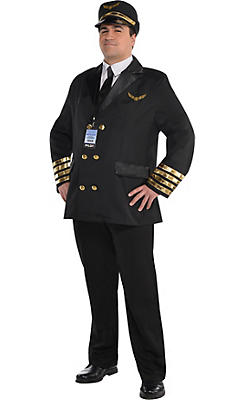 Adult Captain Wingman Pilot Costume Plus Size