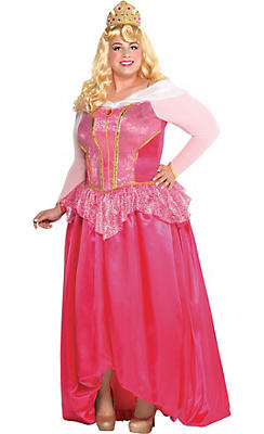 Adult Aurora Costume Couture Plus Size - Sleeping Beauty