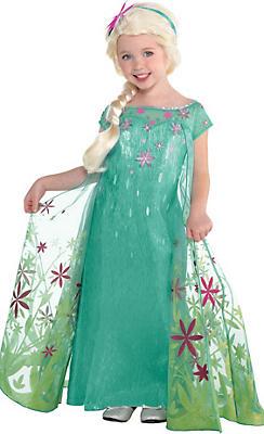Girls Elsa Costume Supreme - Frozen Fever
