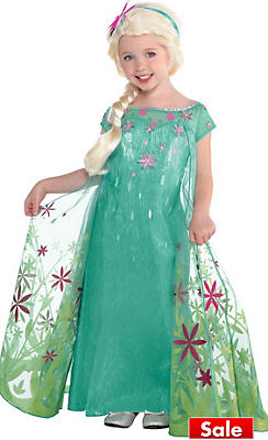 Girls Elsa Costume Supreme - Frozen Fever
