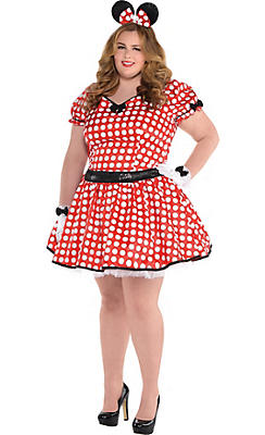 Adult Sassy Minnie Mouse Costume Plus Size