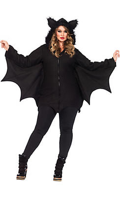 Adult Cozy Bat Costume Plus Size