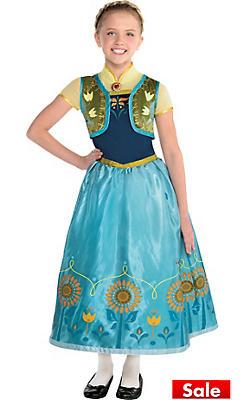 Girls Anna Costume Supreme - Frozen Fever
