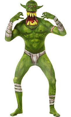 Adult Green Jaw Dropper Orc Morphsuit