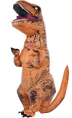 Boys Inflatable T-Rex Dinosaur Costume - Jurassic World
