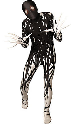 Boys Black & White Horror Zalgo Morphsuit