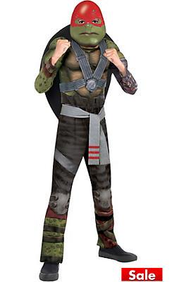Boys Raphael Muscle Costume - Teenage Mutant Ninja Turtles 2