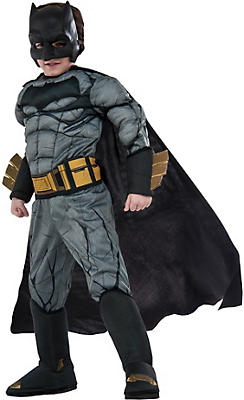 Little Boys Batman Muscle Costume Deluxe - Batman v Superman: Dawn of Justice
