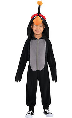 Little Boys Zipster Bomb Angry Bird One Piece Costume - The Angry Birds Movie