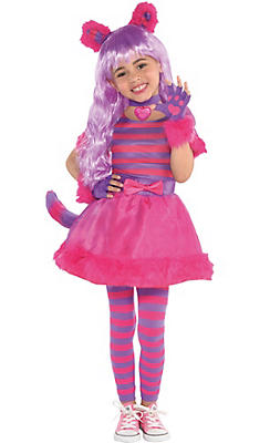 Toddler Girls Cheshire Cat Costume