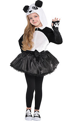 Toddler Girls Panda Costume