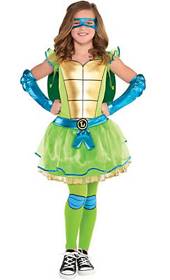 Girls Leonardo Costume - Teenage Mutant Ninja Turtles
