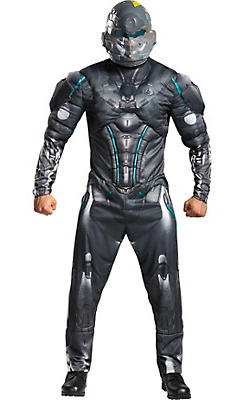 Adult Halo Spartan Locke Muscle Costume Plus Size - Halo