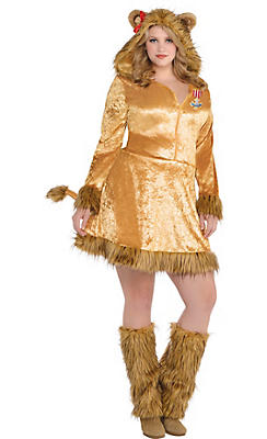 Adult Cowardly Lion Costume Plus Size - The Wizard of Oz