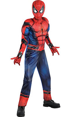 Boys Light-Up Spider-Man Muscle Costume - Captain America: Civil War