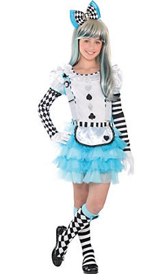 Girls Alice in Wonderland Costume Deluxe