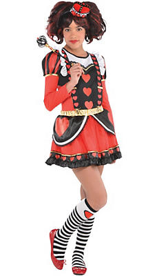 Girls Red Queen Costume Deluxe