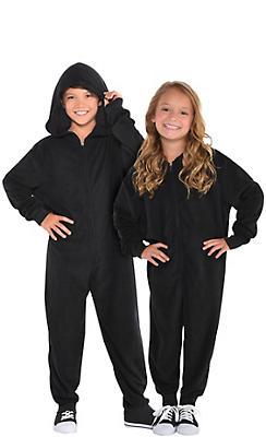 Child Zipster Black One Piece Costume