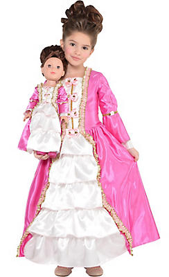 Toddler Girls Marie Antoinette Costume & Matching Doll Costume