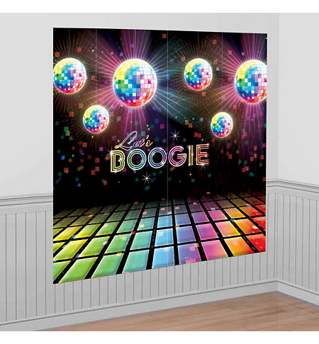 Disco 70s theme party supplies party city for Decoration 70s party