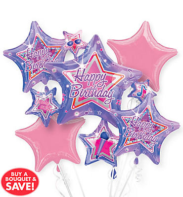 Rock Star Balloon Bouquet 5pc