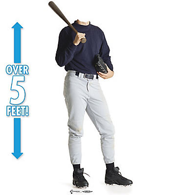 Baseball Player Life Size Photo Cardboard Cutout