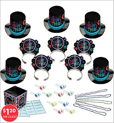 Resolution New Years <span class=messagesale><br><b>Party Kit For 10</b></br></span>