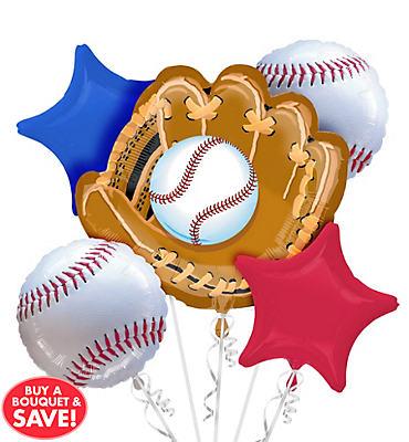 Baseball Balloon Bouquet  5pc