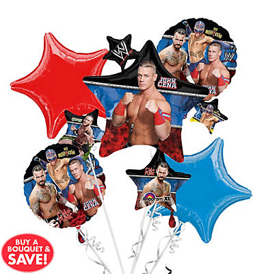 WWE Balloon Bouquet 5pc