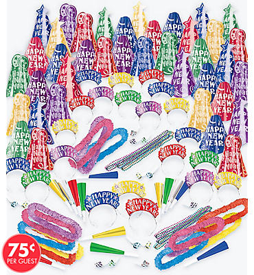 Multicolor Fantasy New Years Party Kit For 100