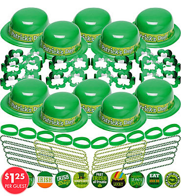 St. Patricks Day 60pc <span class=messagesale><br><b>Party Kit For 20</b></br></span>